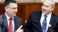 Education Minister Gideon Sa'ar, left, with Prime Minister Benjamin Netanyahu at Sunday's cabinet meeting. (photo credit: Marc Israel Sellem/Flash90).