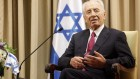 Shimon Peres at his Jerusalem residence, October 4 (photo credit: Miriam Alster/Flash90)