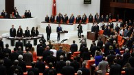 Turkish lawmakers and ministers  at Turkey's parliament in Ankara (photo credit: AP)