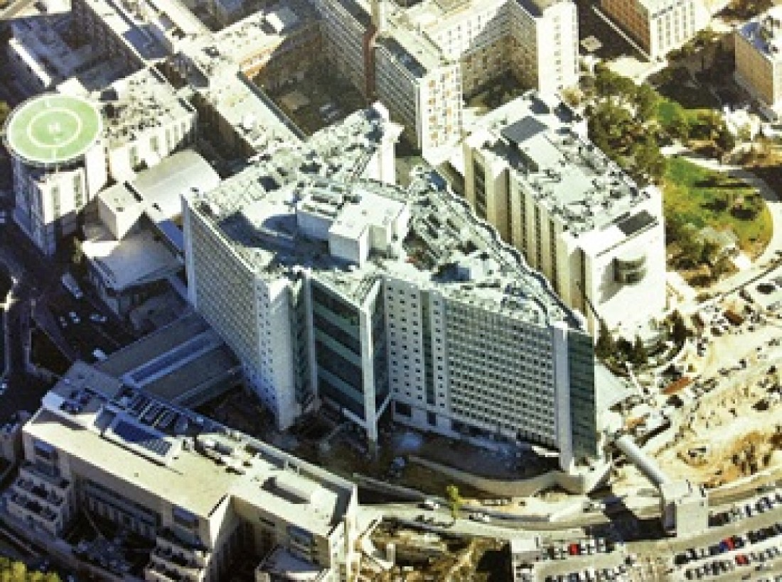 The Sarah Wetsman Davidson Hospital Tower at Hadassah Medical Center in Ein Kerem, Jerusalem (photo credit: Courtesy Hadassah)