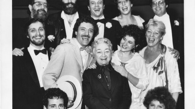 "The original 1982 cast of ""The Golden Land,"" starring Molly Picon, center."