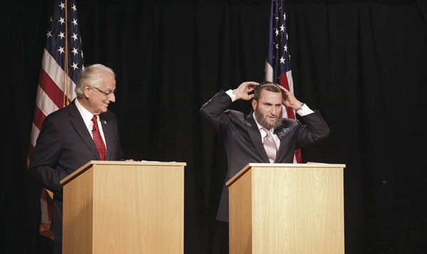 Democrat Rep. Bill Pascrell, left, bristled at attacks made by Shmuley Boteach at Monday's debate. North Jersey Images
