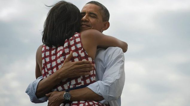 President Obama tweeted this photo, with wife Michelle, to supporters after his victory Tuesday.