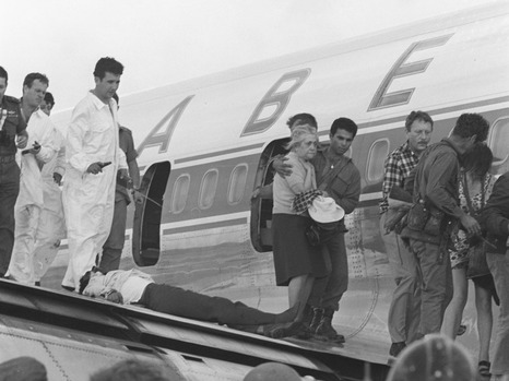 Ehud Barak, left, disguised himself as an aircraft technicians during the 1972 Sabena highjacking (photo credit: Ron Ilan/IDF Spokesperson's Office)