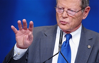 Sen. Inhofe introduced cuts to Palestinian aid should they attain enhanced U.N. status. Getty Images