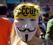 Occupy Wall Street, which celebrated its one-year birthday with protests like this one, has a new idea. Getty Images