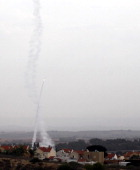 A missile is fired from an Iron Dome anti-missile station on Nov. 17. Getty Images