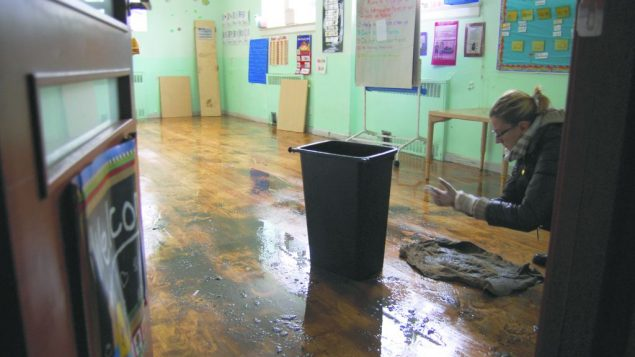 The k-6 classrooms at Brighton Beach's Mazel Day School were completely flooded. Courtesy of Mazel Day School