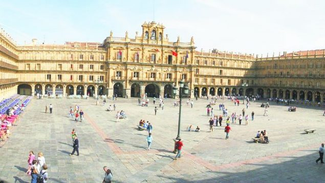 Salamanca's Plaza Mayor, by day. Photo courtesy Salamanca Tourism
