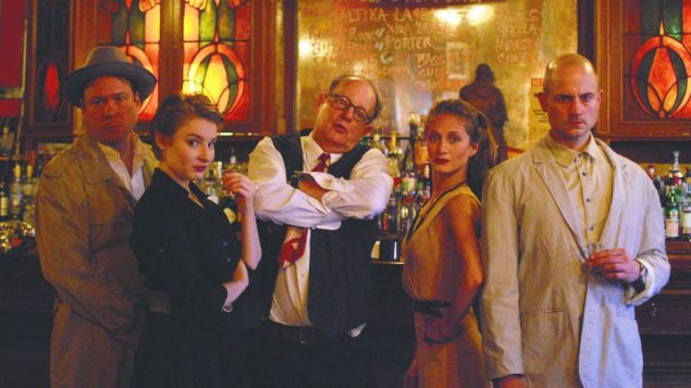"""A scene from """"Isaac Babel and the Gangster King,"""" at the Kraine Theater."""