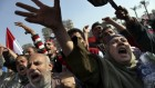 Egyptian protesters chant anti-Muslim Brotherhood slogans as they attend a rally in Tahrir Square, in Cairo, Egypt, Friday, Nov. 30 (photo credit: AP/Khalil Hamra)