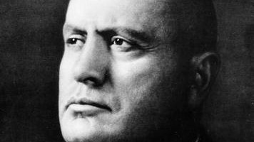 Mussolini (Crédit : Wikimedia Commons)