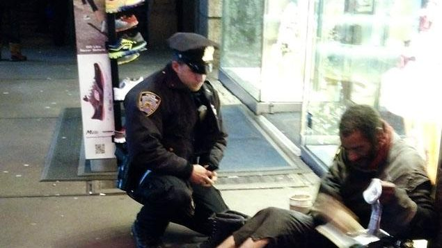 "To Officer Larry DePrimo, a barefoot man in the cold is ""unacceptable."""