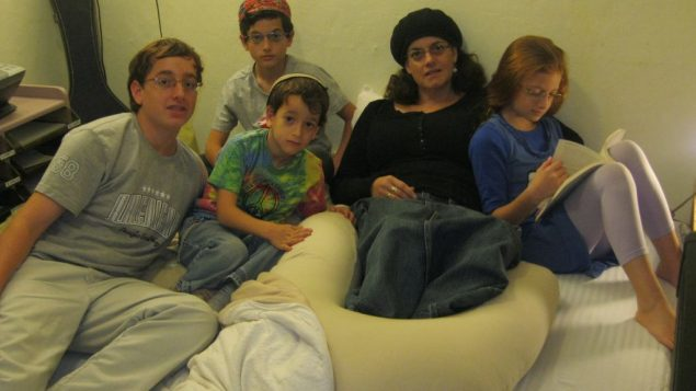 The Klein family in Beersheva sleep in their home's reinforced room every night. Michele Chabin