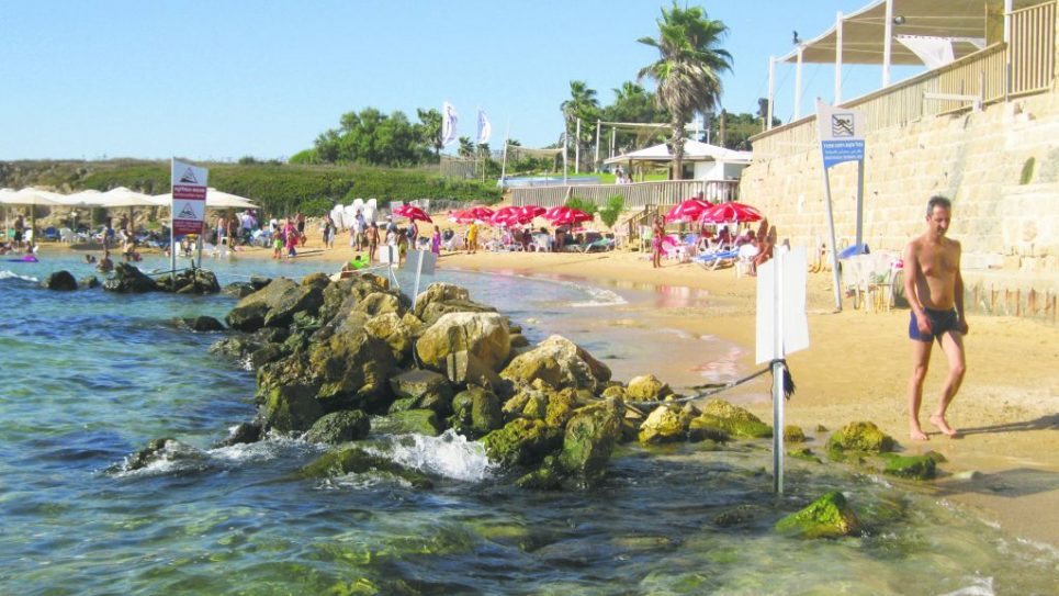 The Port in Caesarea offers Roman ruins, good restaurants and a gorgeous beach. Photos by Michele Chabin