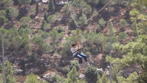 Zip-line, Gush Etzion (photo credit: Courtesy of Shmuel Bar-Am)