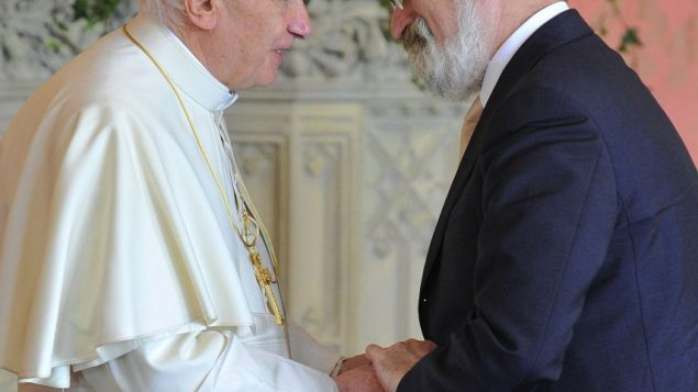 THe UK chief rabbi does much interfaith dialogue. Here, Rabbi Jonathan Sacks and Pope Benedict XVI. Getty Images