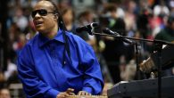 Stevie Wonder warmed up the crowd during an Obama trip to Ohio during his presidential campaign. Getty Images