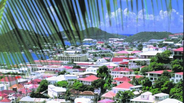 An aerial view of Charlotte Amalie, the island's only real city. USVI Department of Tourism