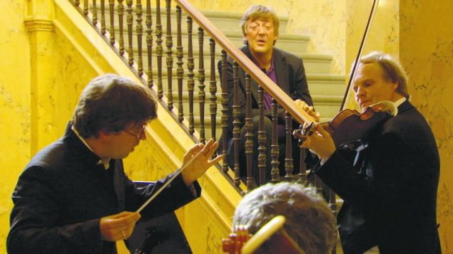 "Stephen Fry listens to a performance of Wagner's ""Träume,"" at the Villa Wesendonck in Zurich. Photos courtesy of  Wavelength Fil"