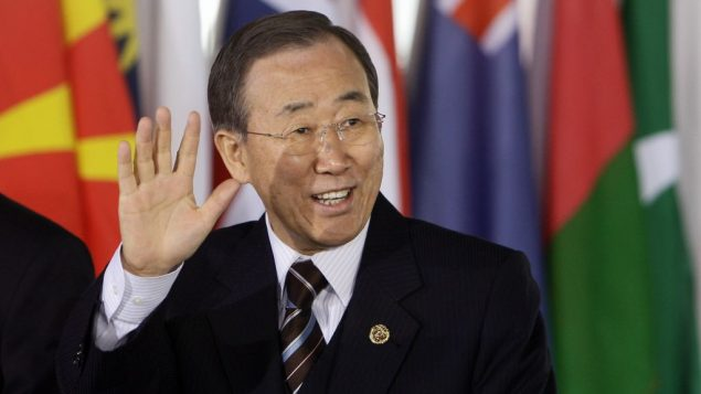 "UN Secretary General Ban Ki-moon says the peace process is in a ""deep freeze."" Getty Images"