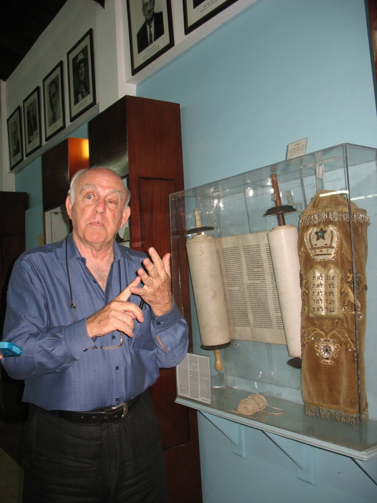 Like many of Jamaica's roughly 200 Jews, Ainsley Henriques, pictured at the Jewish Heritage Center in Kingston, traces his background to Sephardic immigrants. (Debra Rubin/JTA)