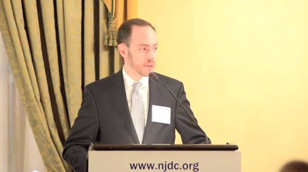 David Harris, President of the National Jewish Democratic Council, March 2011. (screen capture: Youtube/NJDCJewishDems)