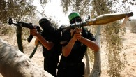 Hamas militants in the Gaza Strip, in October (photo credit: Abed Rahim Khatib/Flash90)