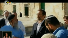 Likud MK Moshe Feiglin (in black jacket, second from right) on the Temple Mount in December (photo credit: screen capture/Channel 10)