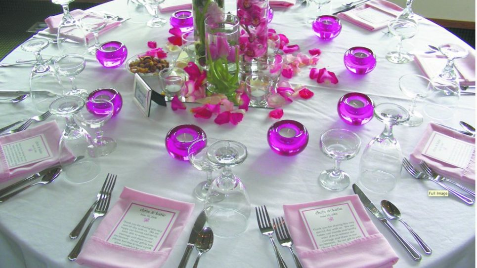 The cuisine at a wedding table often melds various ethnic, cultural and religious preferences. tracy hunter
