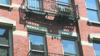 An apartment building near the Delancey/Essex subway station, part of the gentrifying Lower East Side.