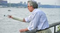 Watching the river flow: The author casts his sins into the Hudson. Manor Ben Shaul