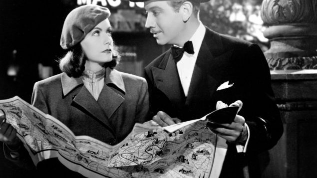 "Greta Garbo and Melvyn Douglas in ""Ninotchka."""