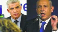 Yair Lapid, left, head of the Yesh Atid party, is likely to join a coalition government. Getty Images