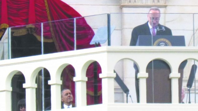 New York's Sen. Charles Schumer served as emcee of the presidential inauguration ceremony in Washington on Monday.