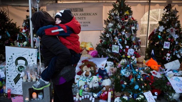 A sister memorial to this one in Newtown will be planted in Israel by the Jewish National Fund. Getty Images