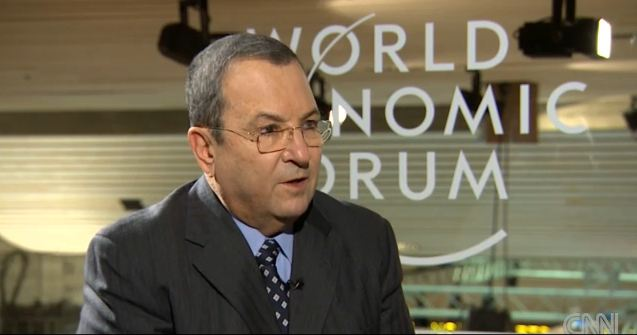 Former prime minister and defense minister Ehud Barak speaking on CNN, January 23, 2013. (photo credit: screen capture, CNN)