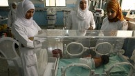 A premature baby at a Hospital in Khan Younis, Gaza (illustrative photo credit: Abed Rahim Khatib/Flash 90)