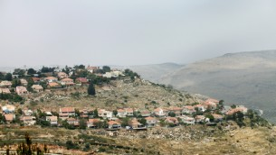 A West Bank settlement, May 2012 (photo credit: Moshe Shai/Flash90)