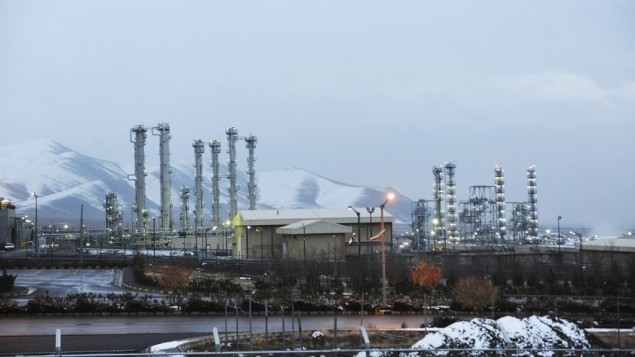 Iran's heavy water nuclear facilities near the central city of Arak 150 miles (250 kilometers) southwest of Tehran. (photo credit: AP/ISNA,Hamid Foroutan, File)