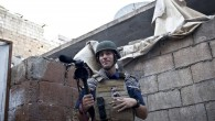 Journalist James Foley in Aleppo, Syria, in November, 2012. The family of the American reporter says he went missing more than one month ago while covering the civil war. (photo credit: AP/Nicole Tung, freejamesfoley.org)