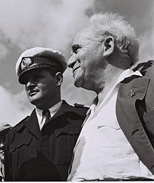 Mordechai Limon with Ben Gurion (photo credit: Commons)
