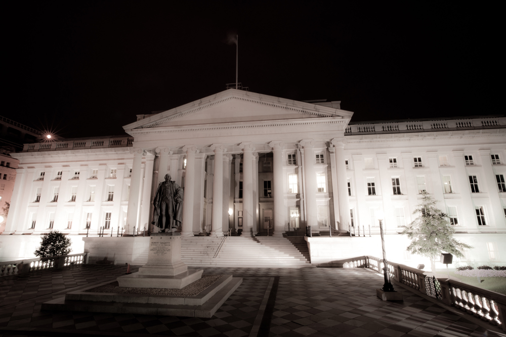 The US Department of the Treasury (photo credit: CC BY-SA Florian Hirzinger, Wikimedia Commons)