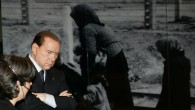 Silvio Berlusconi visits the Yad Vashem Holocaust memorial museum in Jerusalem, February, 2010 (photo credit: Abir Sultan/Flash90)
