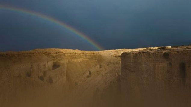 Rainbow over desert near the Dead Sea by Donald Nussbaum. Photo courtesy Oxford University Press