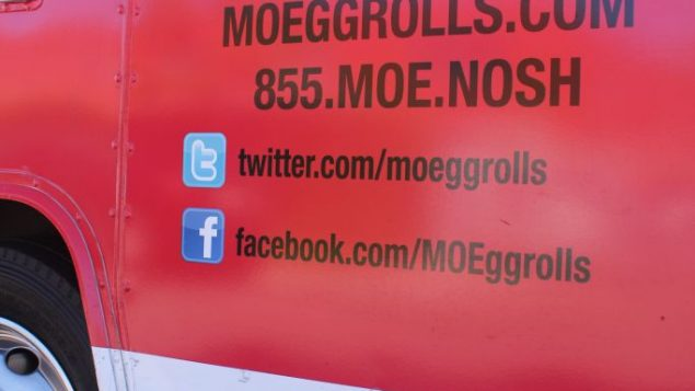 Michael Israel's Los Angeles food truck, which serves Montreal-style egg rolls. George Medovoy
