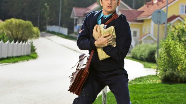 "Ruben (Nicolas Maury), the pride of the Finnish postal service, in ""Let My People Go!"""