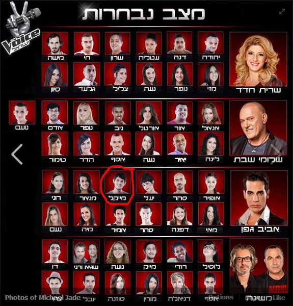 The current crop of contestants on The Voice, with Michael Jade circled below (Courtesy The Voice)