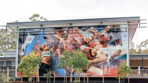 Exterior of the Murdoch University Sports Science Hub Project in Murdoch, Australia (Photo credit: Courtesy Dip-Tech)