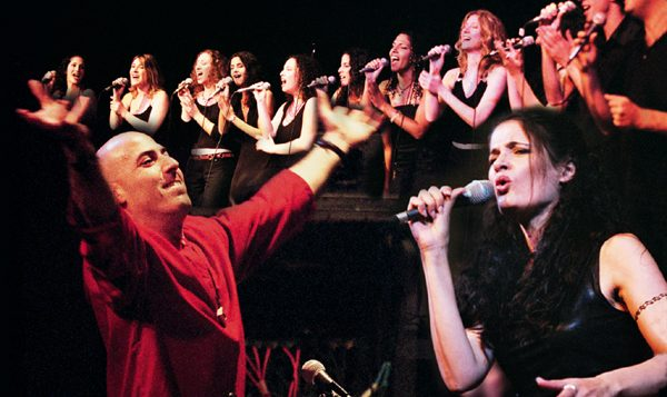 Iris and Ofer Portugaly leading their Gospel Jazz Choir. Photo courtesy Iris and Ofer Portugaly